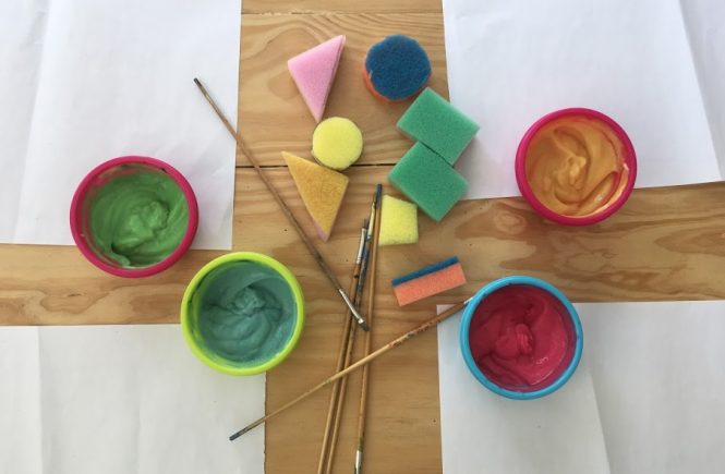 edible finger paint toddler activities