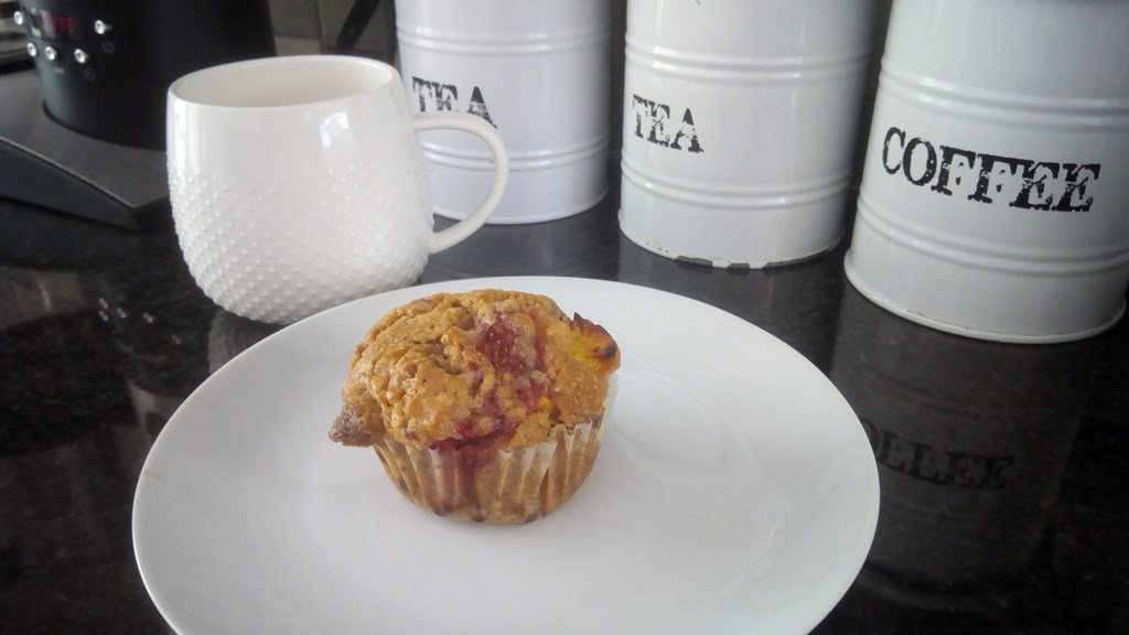 strawberry and peach muffins